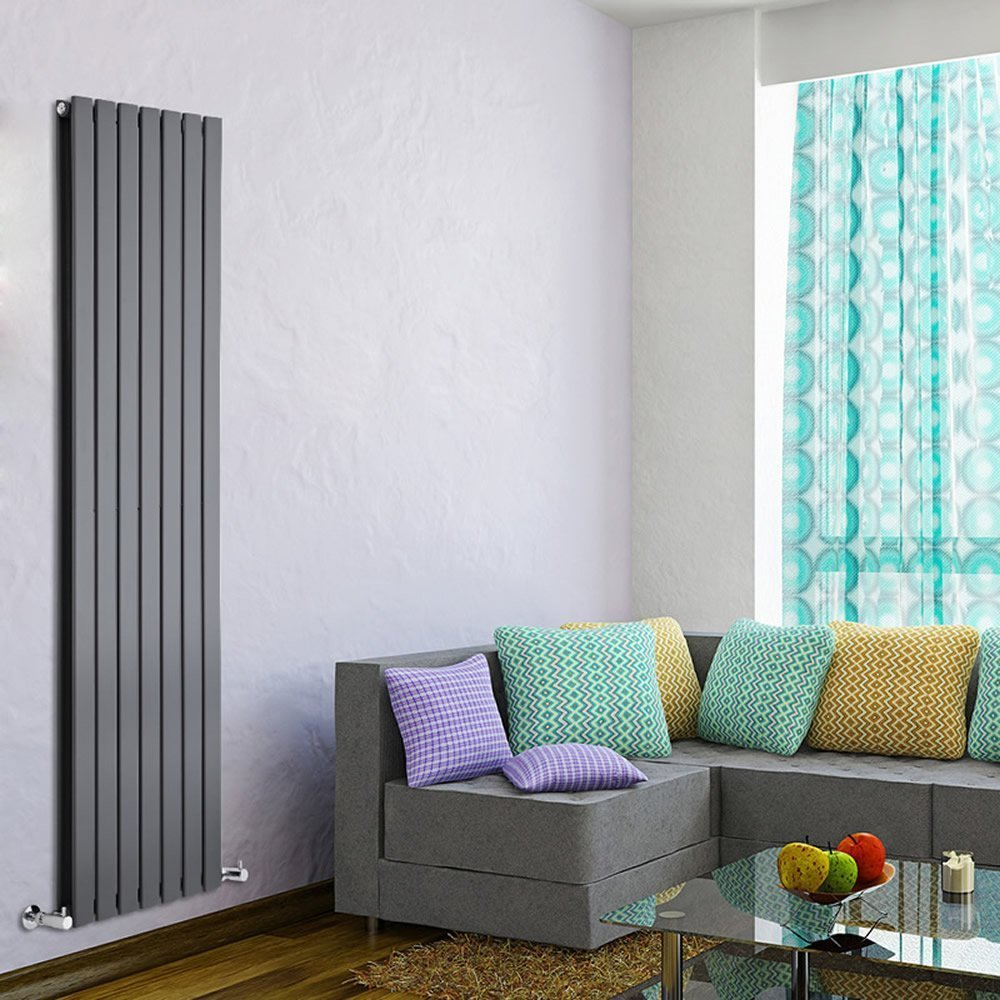 Milano Alpha - Anthracite Vertical Double Designer Radiator